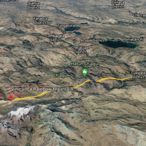 Rainbow Mountain Peru Map - Cusipata Route